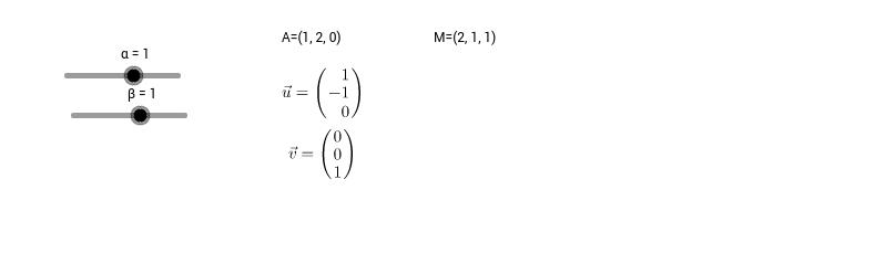 Equation paramétrique d'un plan [Calcul vectoriel]