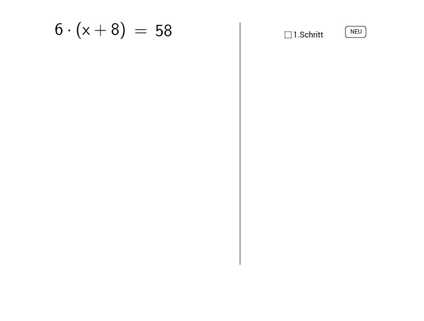Gleichung 2 - GeoGebra Dynamisches Arbeitsblatt