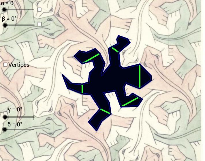 Escher's Lizard Tessellation