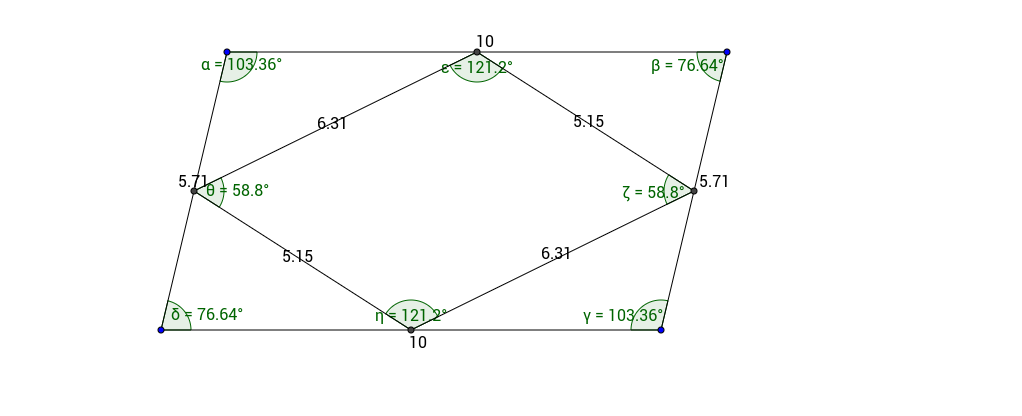 Shape in a parallelogram