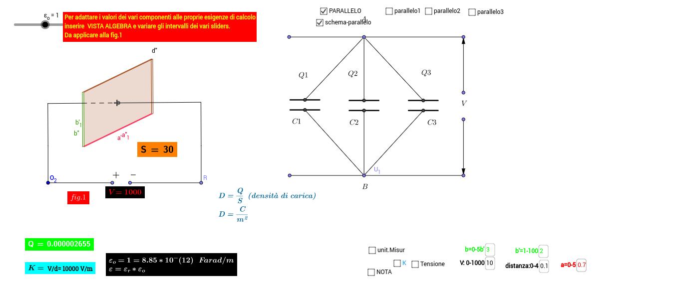 condensatori collegati in parallelo