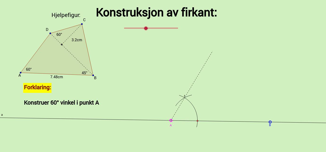 Konstruksjon av firkant
