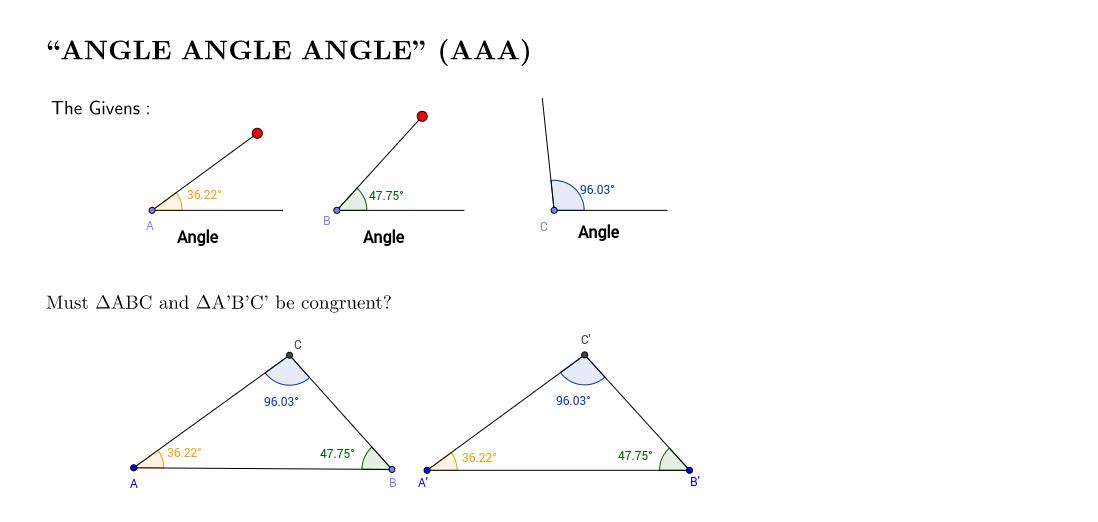 Angle Angle Angle (AAA)