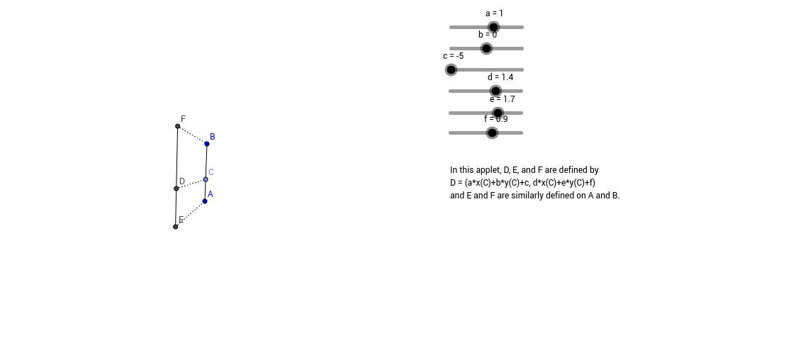 Transforming line segments
