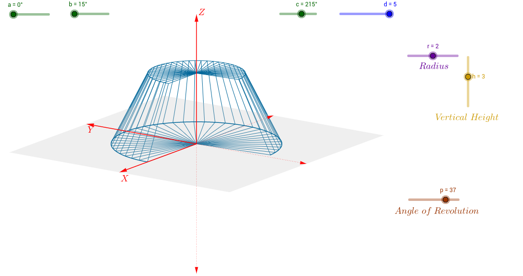 Truncated Cone created from Revolution
