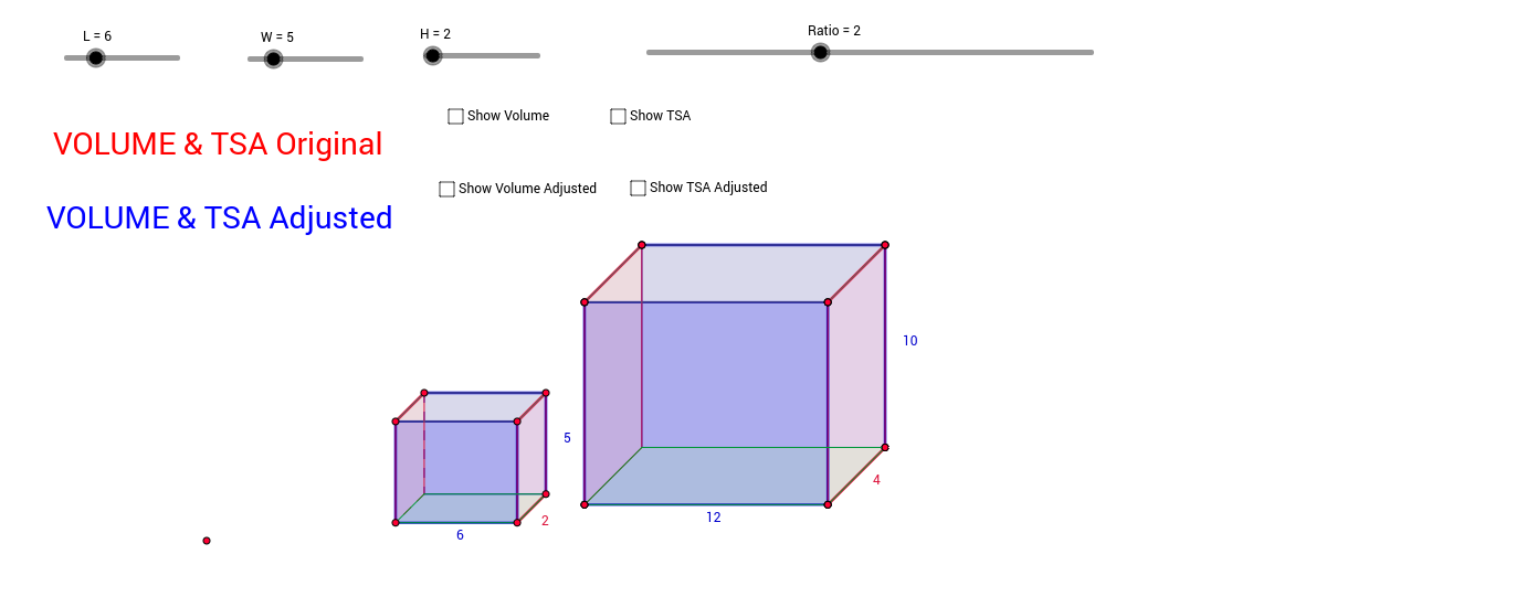 Ratio of Volumes of Rectangular Prisms