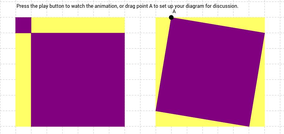 Pythagorean Theorem Animation 1