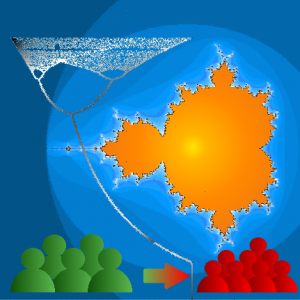 From population dynamics to fractals