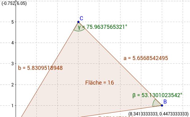 Übungen zum allgemeinen Dreieck