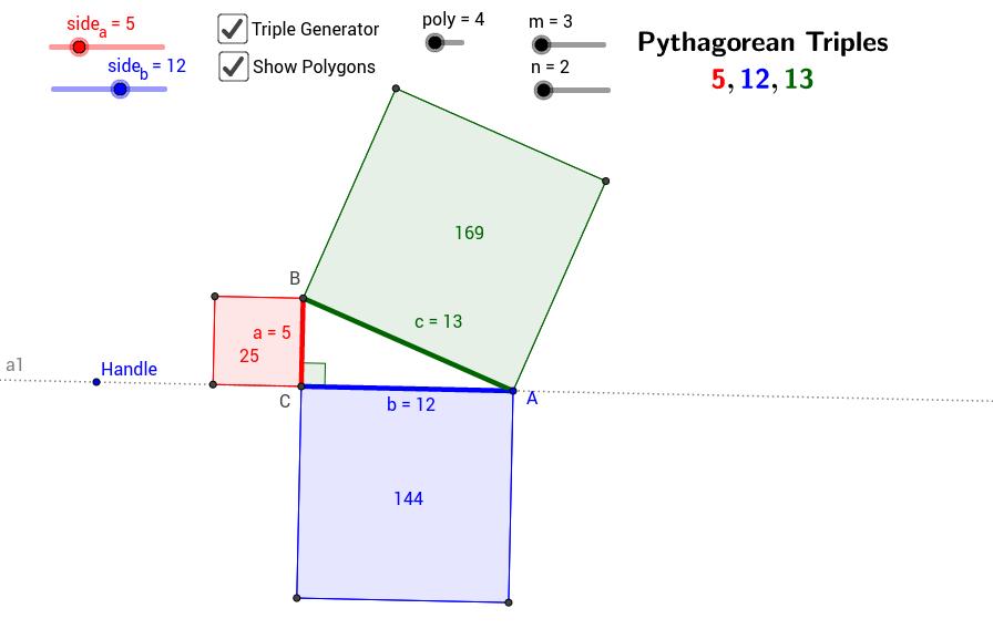 Polygon Proofs of Pythagoras
