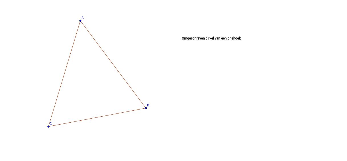 Omgeschreven cirkel van een driehoek