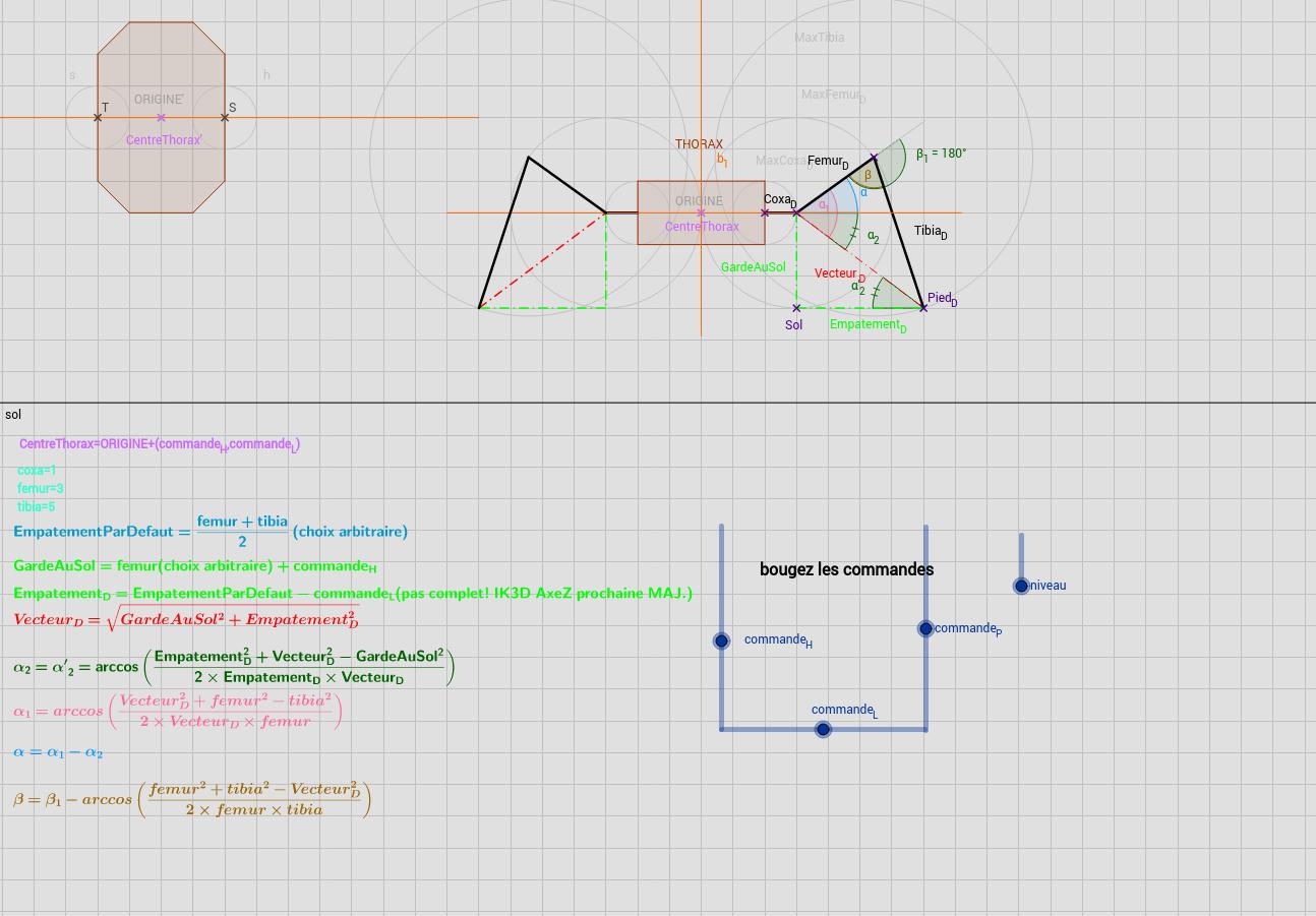 cinematique inverse 2D robot hexapode 3DOF CR6