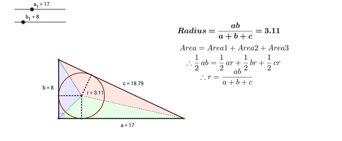 Incircle of a triangle and Pythagorean Triples