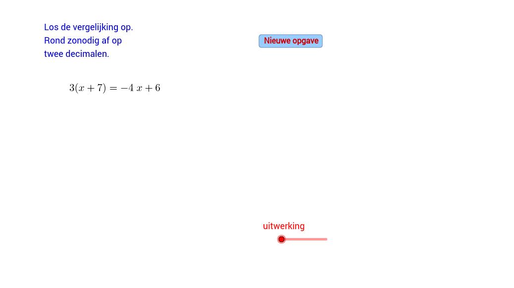 Vergelijkingen oplossen (E)