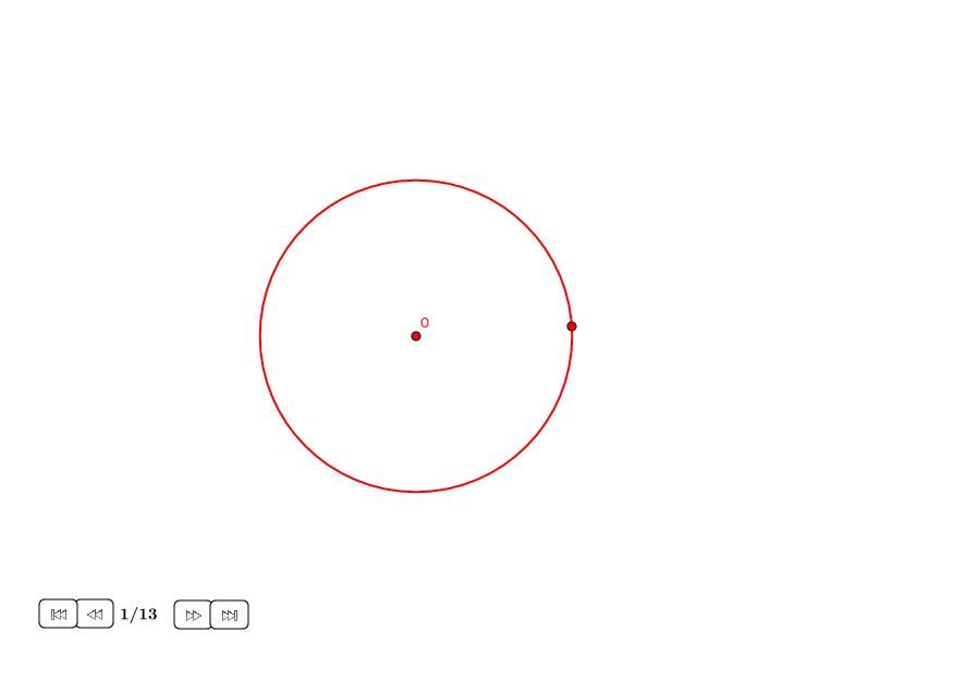 Heptágono aproximado en un círculo (II)