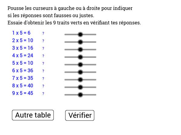 R viser les tables de multiplication geogebra - Reviser les tables de multiplication ...