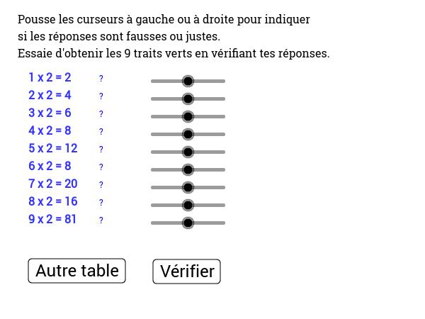 Copie de r viser les tables de multiplication geogebra - Reviser les tables de multiplications ...