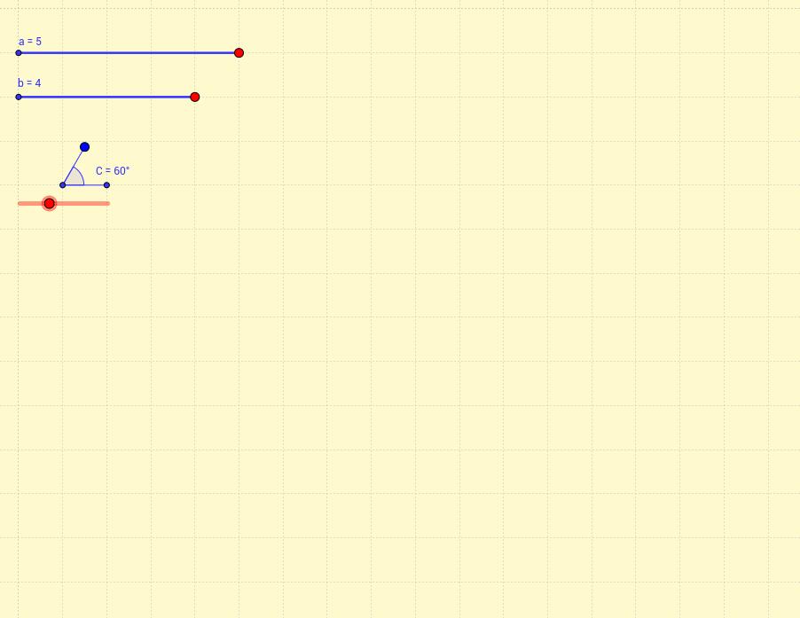 Triángulo conocidos dos lados y el ángulo comprendido