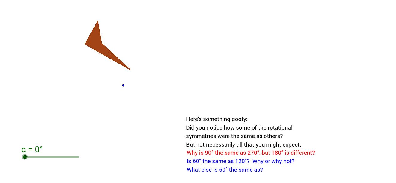 different rotational symmetries