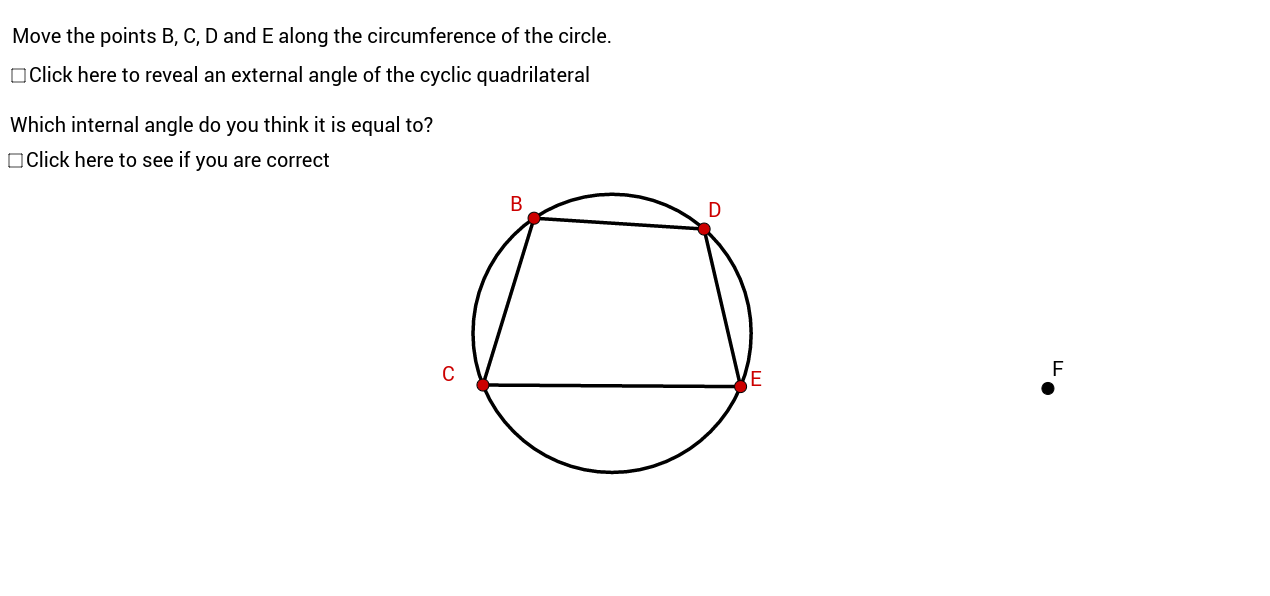 Angles in a cyclic quadrilateral