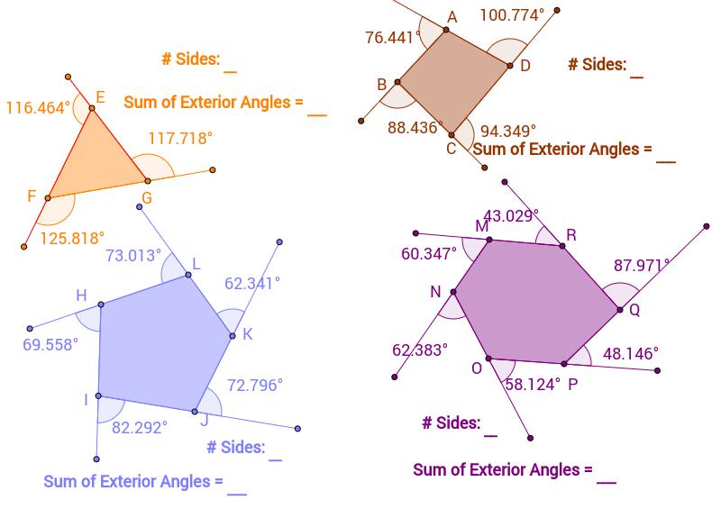exterior angles of polygons worksheet resultinfos. Black Bedroom Furniture Sets. Home Design Ideas