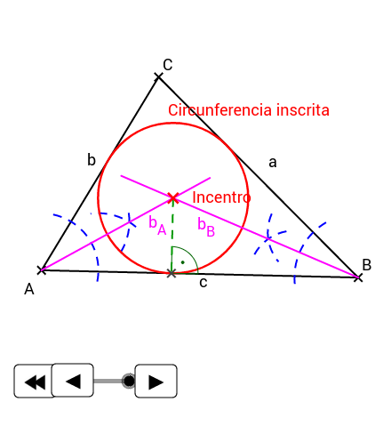 EPV1.Triángulos. Incentro.