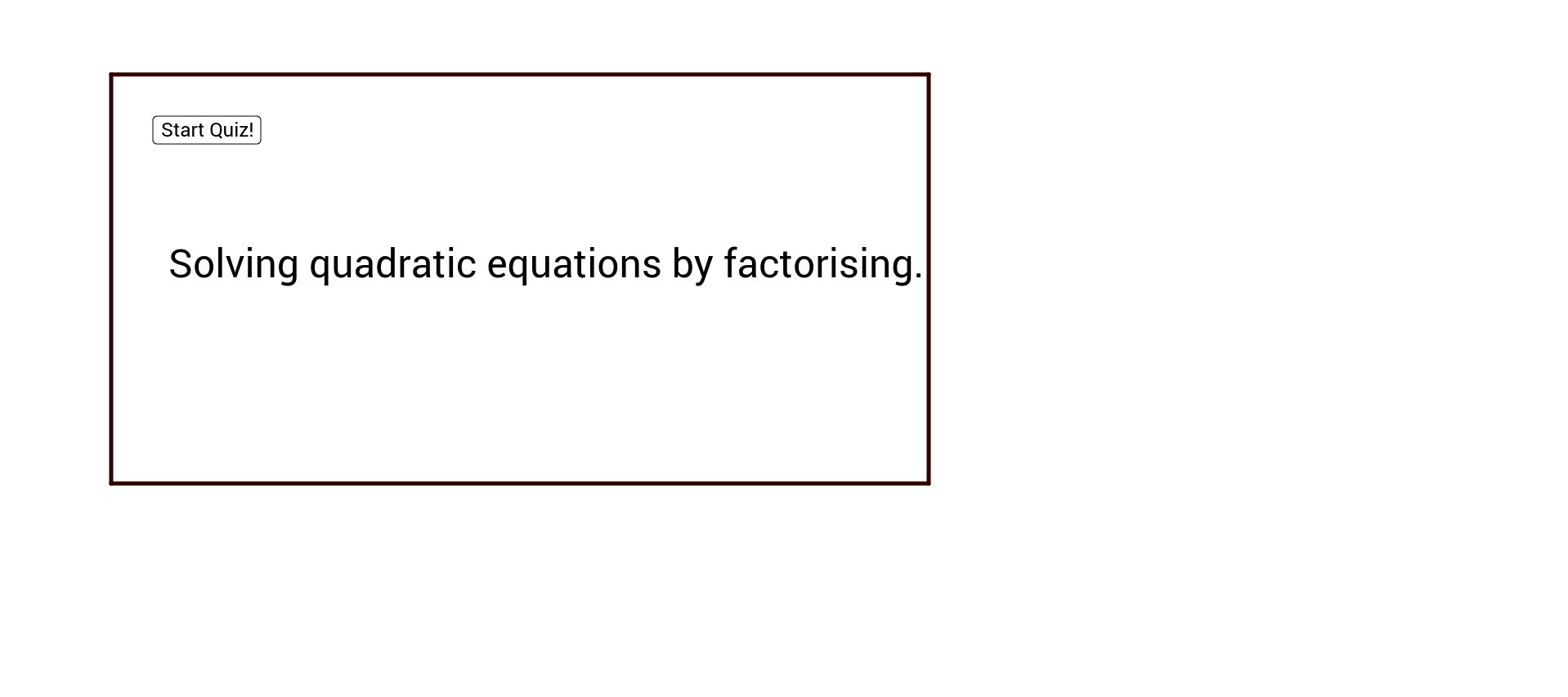 Quadratic Quiz