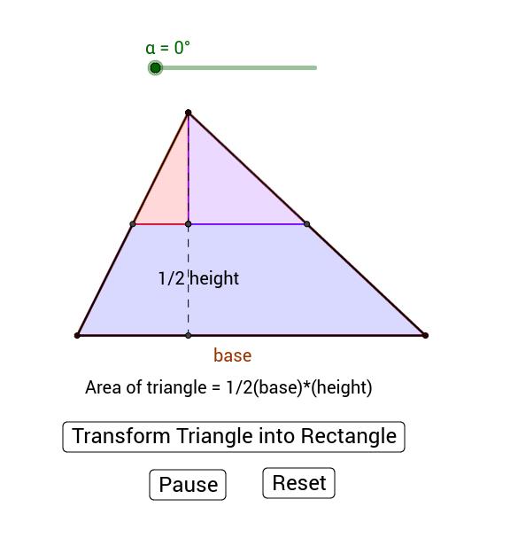 Triangle Area Calculated via Rotation