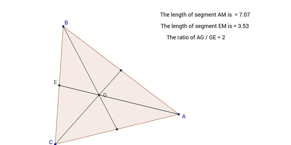 Medians of a Triangle with Centroid and Distances