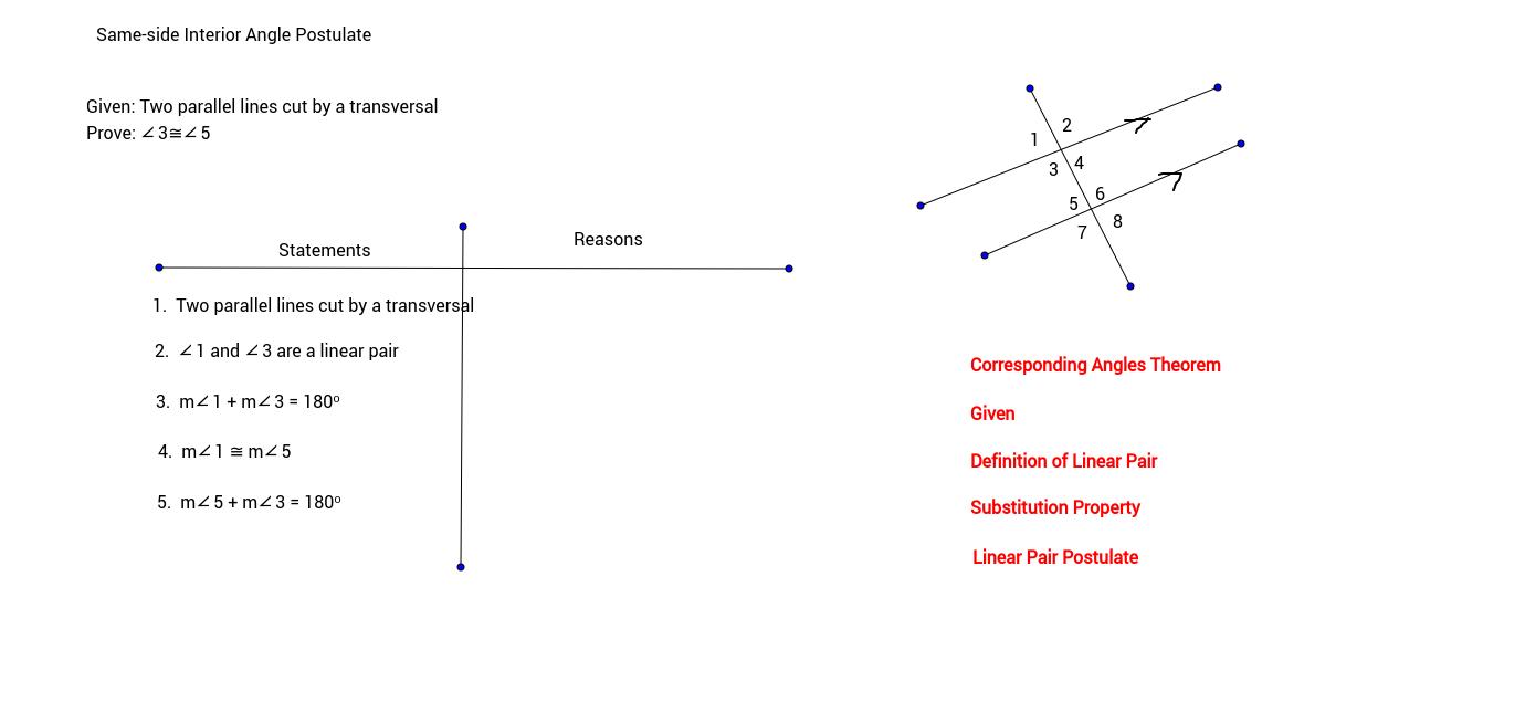 Same-side Interior Angles Postulate