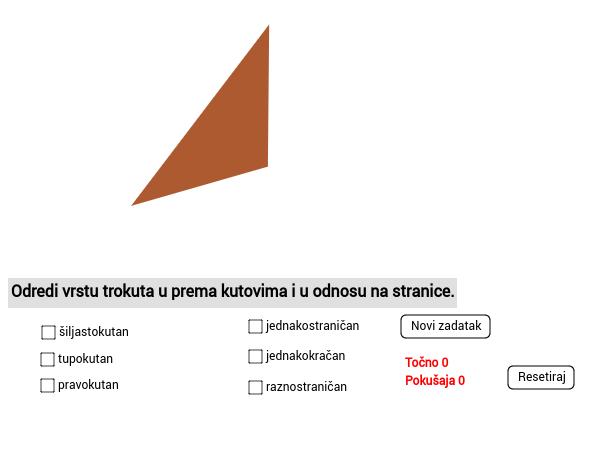 Vrste trokuta - pogodi koji sam
