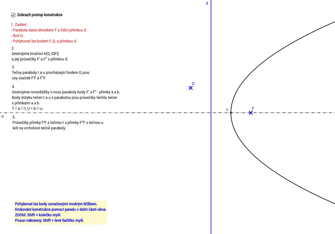 Tečny z bodu k parabole