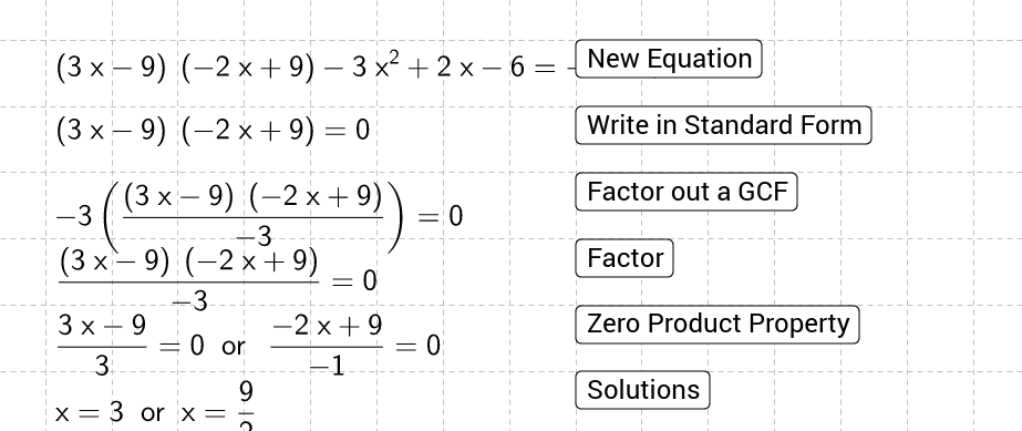 Solving Quadratic Equations by Factoring Practice