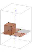 Cubo en 3D con su desarrollo