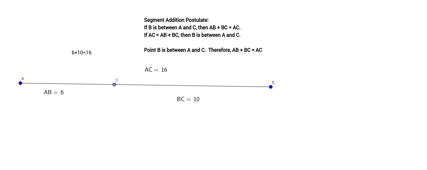 Segment Addition Postulate - Gelinas