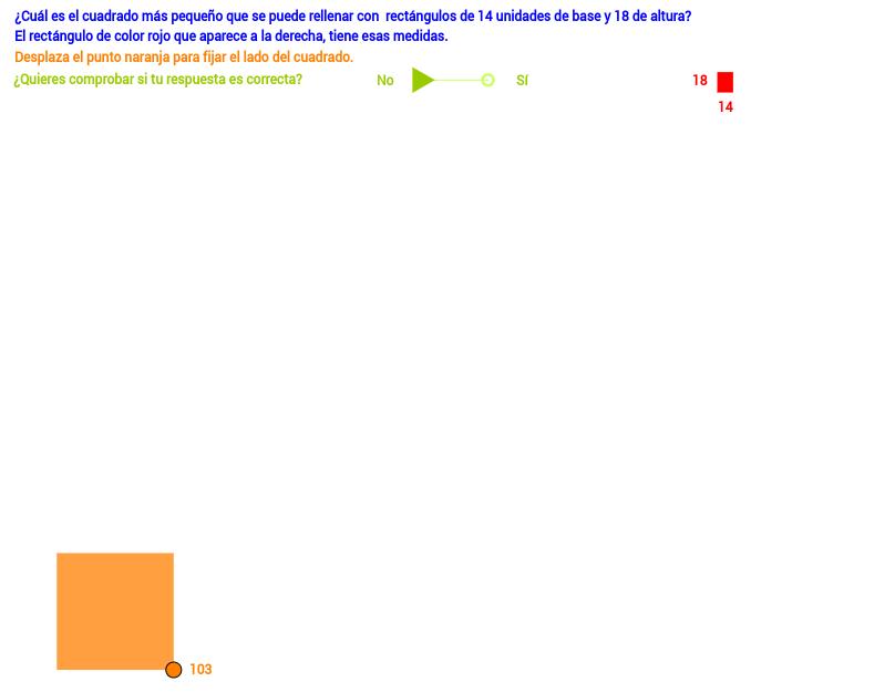 Recubrir cuadrados con rectángulos iguales (II)