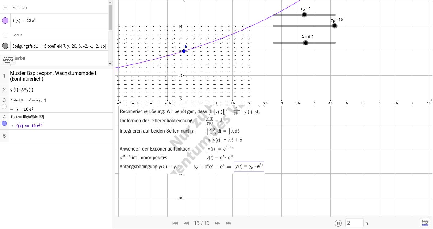 Bsp. 498 b kont. exp. Wachstum / tm 8.KL