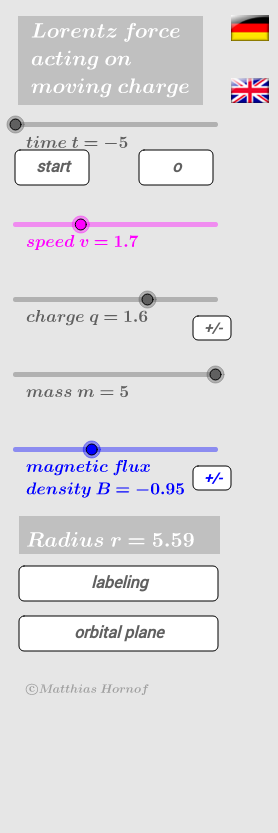 moving charge in magnetic field