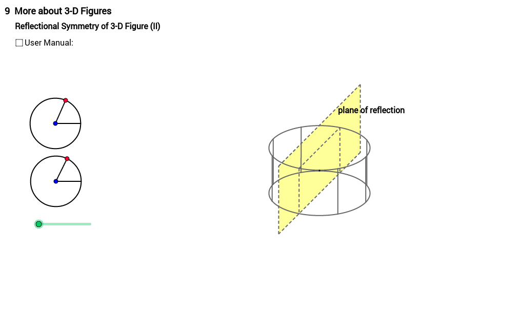 Reflectional Symmetry of Cylinder