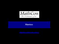 Todo sobre matrices