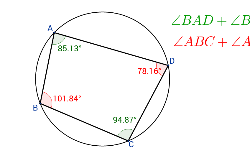 Opposite angles and Cyclic Quadrilateral
