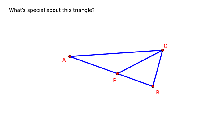another triangle ABC cut into 2