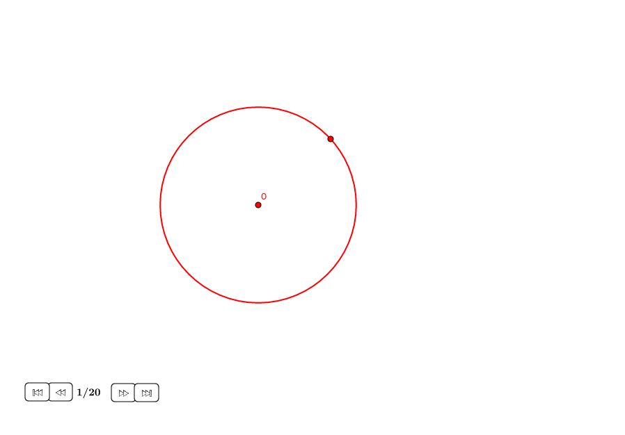 Ocho círculos tangentes en un círculo