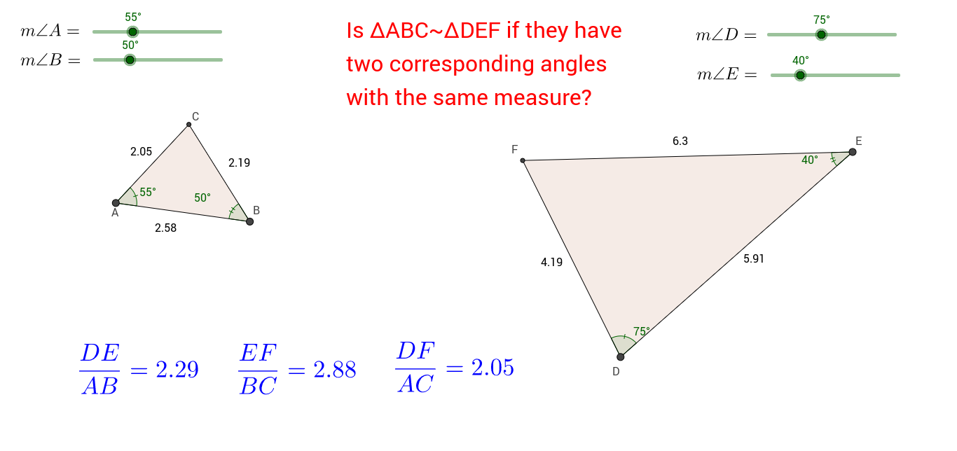 Worksheets Congruent Angles Worksheet 3 5 investigation congruent angles geogebra when angle a is equal to d and b e how do you know that c f 2