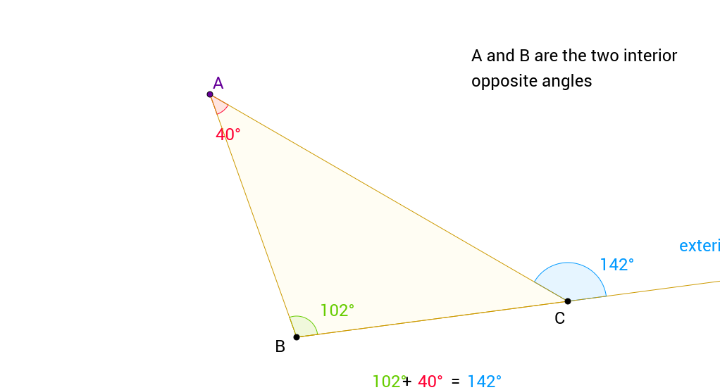 exterior angle theorem of the triangle