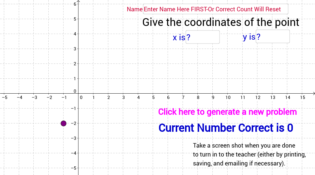 Finding Coordinates of a Point