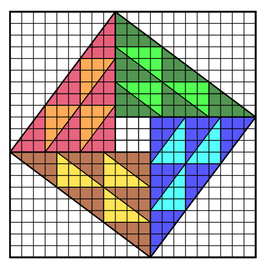 Pythagorean Theorem:  Chou Pei Suan Ching's Proof x 3