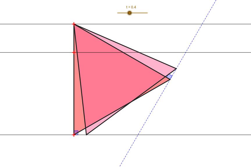 三條線上的正三角形