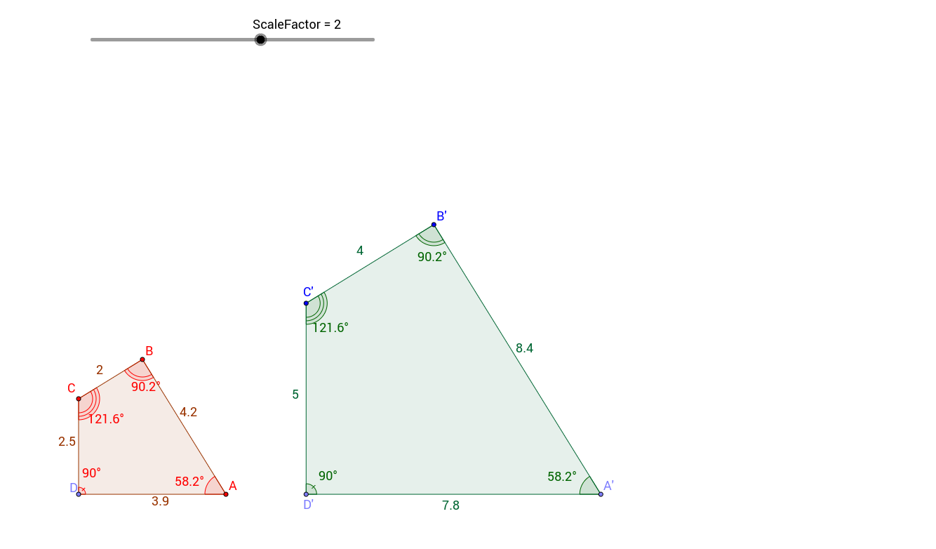Scale Factor and Similar Polygons GeoGebra – Similar Polygons Worksheet