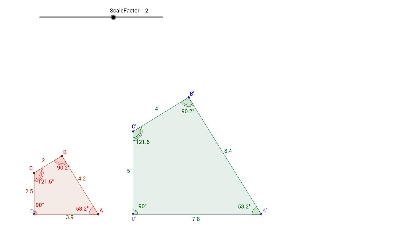 Scale Factor and Similar Polygons GeoGebra – Scale Factors Worksheet